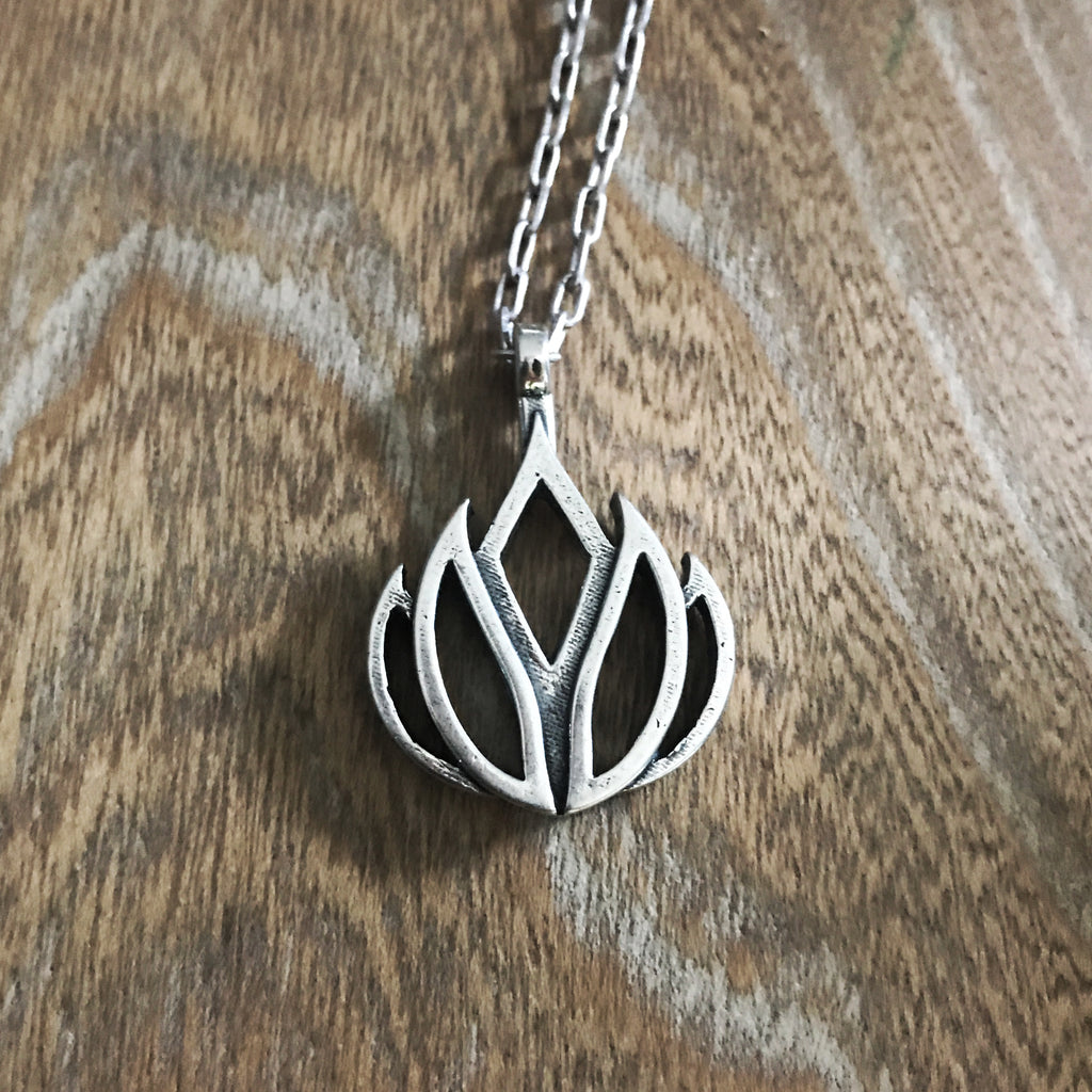 LIFE Lotus Flower of Grace Necklace - Sterling Silver