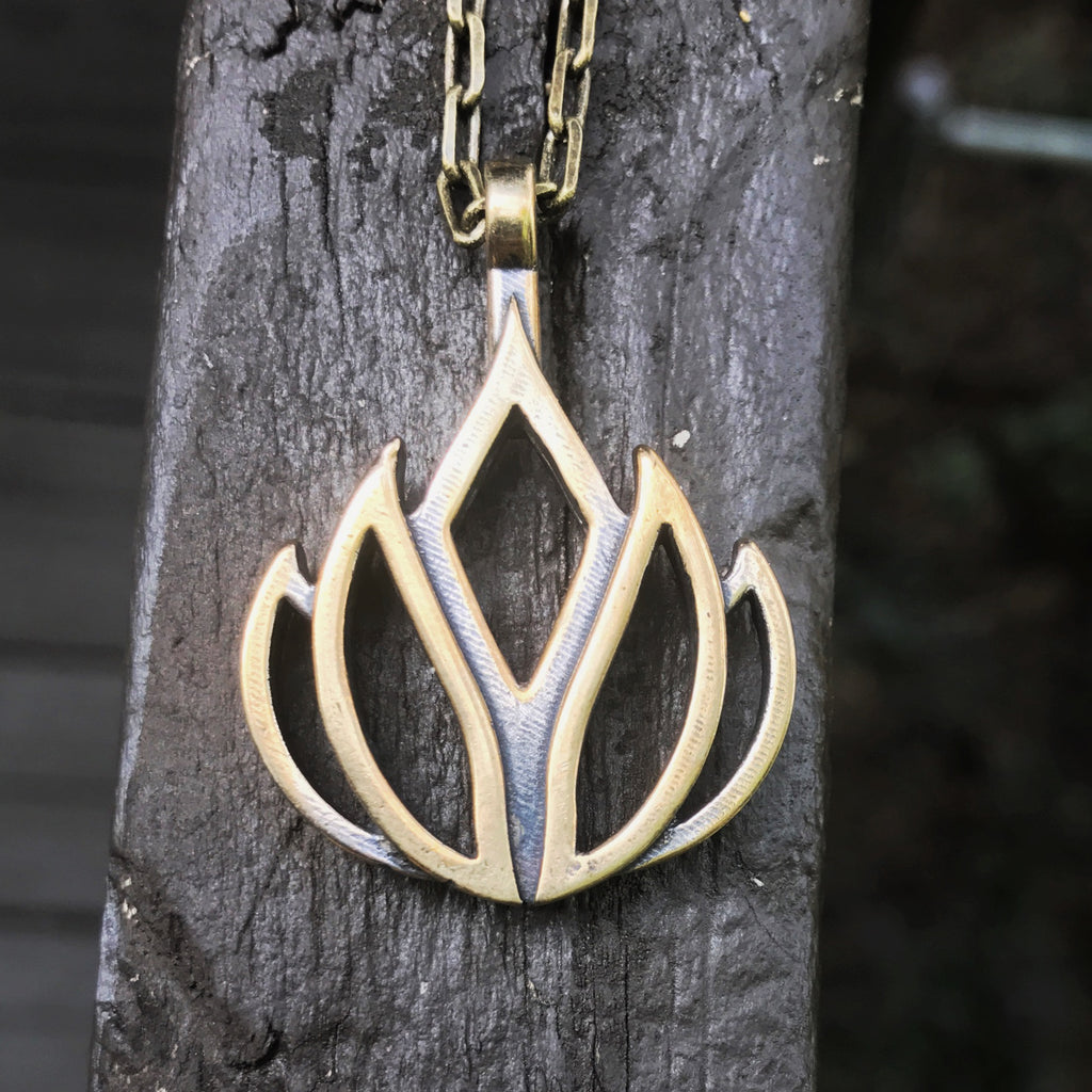 LIFE Lotus Flower of Grace Necklace - Bronze