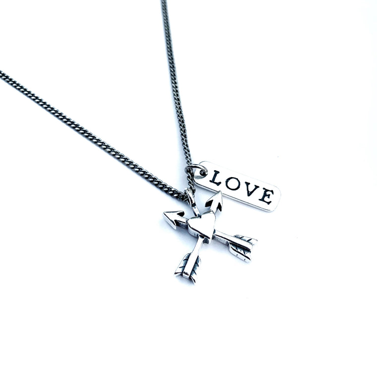Friends Forever Arrows Necklace - Sterling Silver Choker Mini