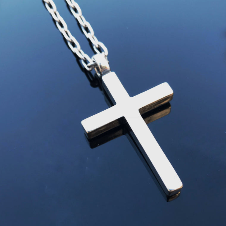 FAITH Classic Cross Necklace - Sterling Silver