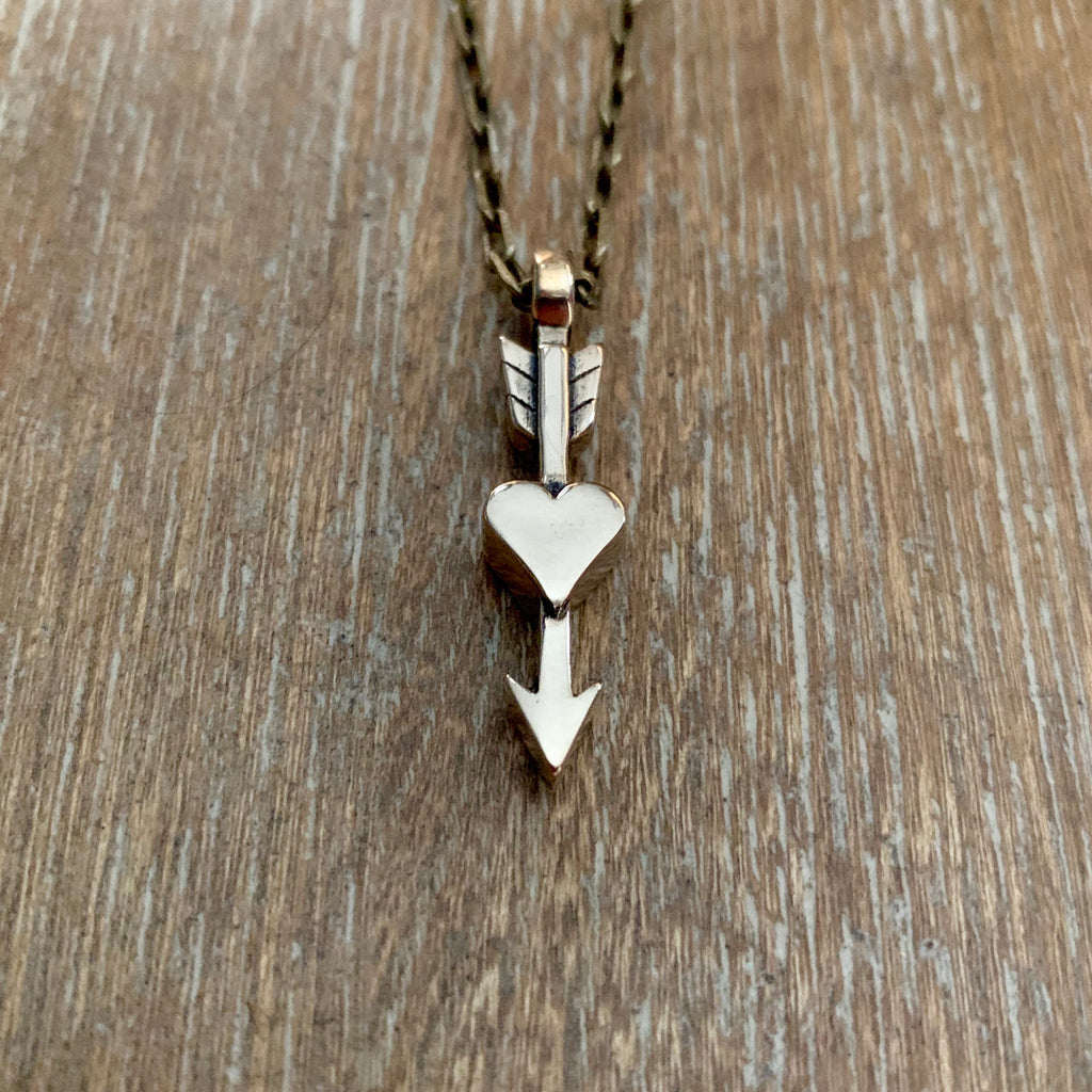 True Love Arrow Necklace - Bronze