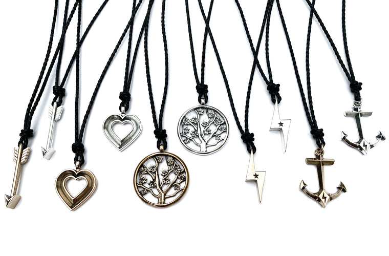 Bestseller Limited Edition Honor Emblem Necklace - Bronze or Sterling Silver on Bolo Cord