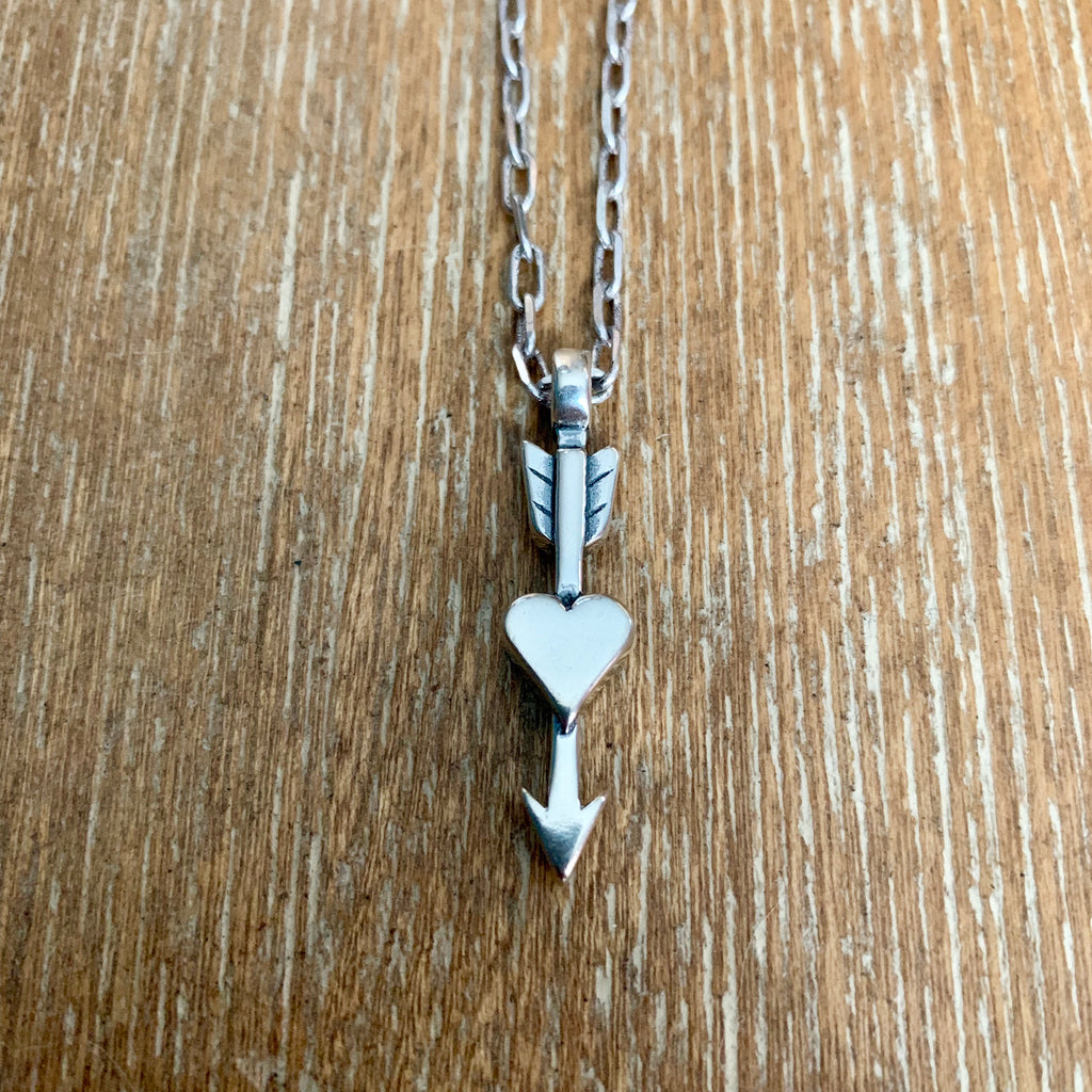 True Love Arrow Necklace -Sterling Silver