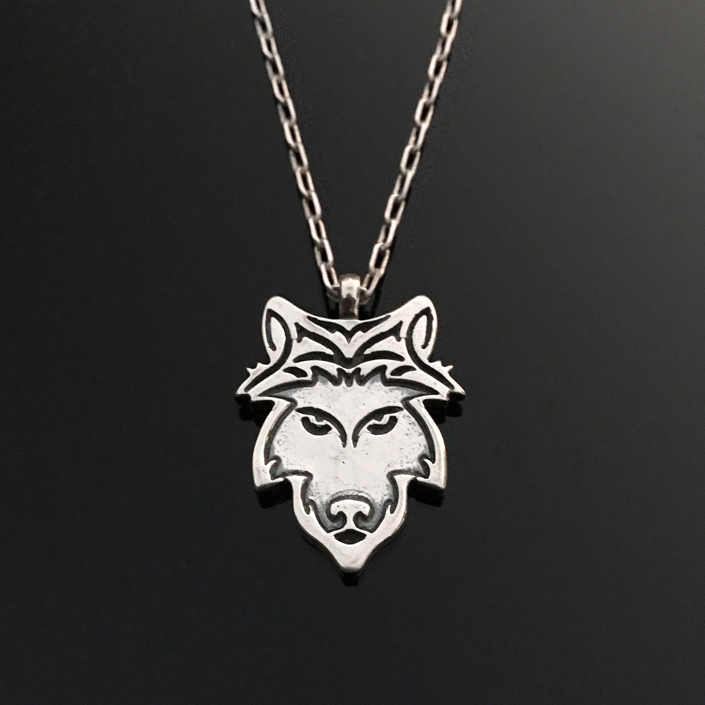 dragon jewellery wolf category pendants product silver solid head mist design fine pendant