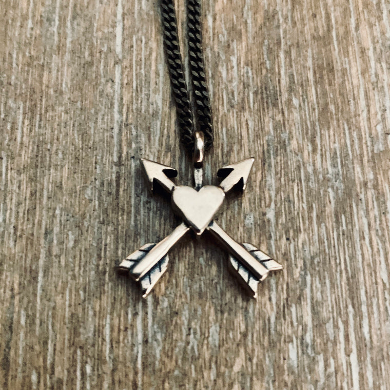 Friends Forever Arrows Necklace - Bronze Choker Mini