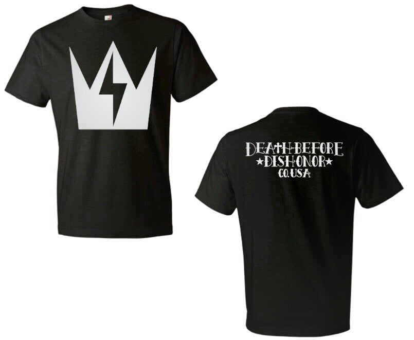 DEATH BEFORE DISHONOR Crown of Thunder Large Graphic Logo Tee