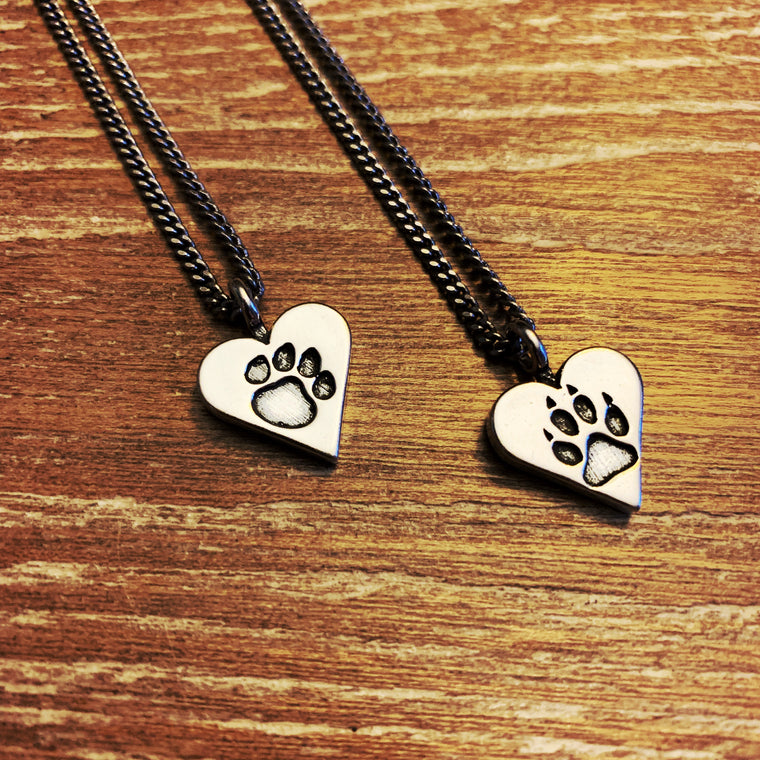 Dog Lover or Cat Lover Necklace - Sterling Silver Choker Mini
