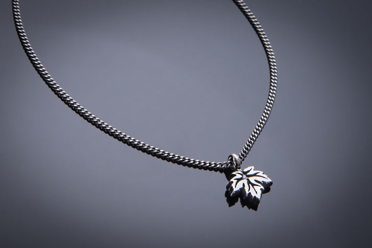Leaf of Life Necklace - Sterling Silver HONOR EMBLEM Jewelry Choker