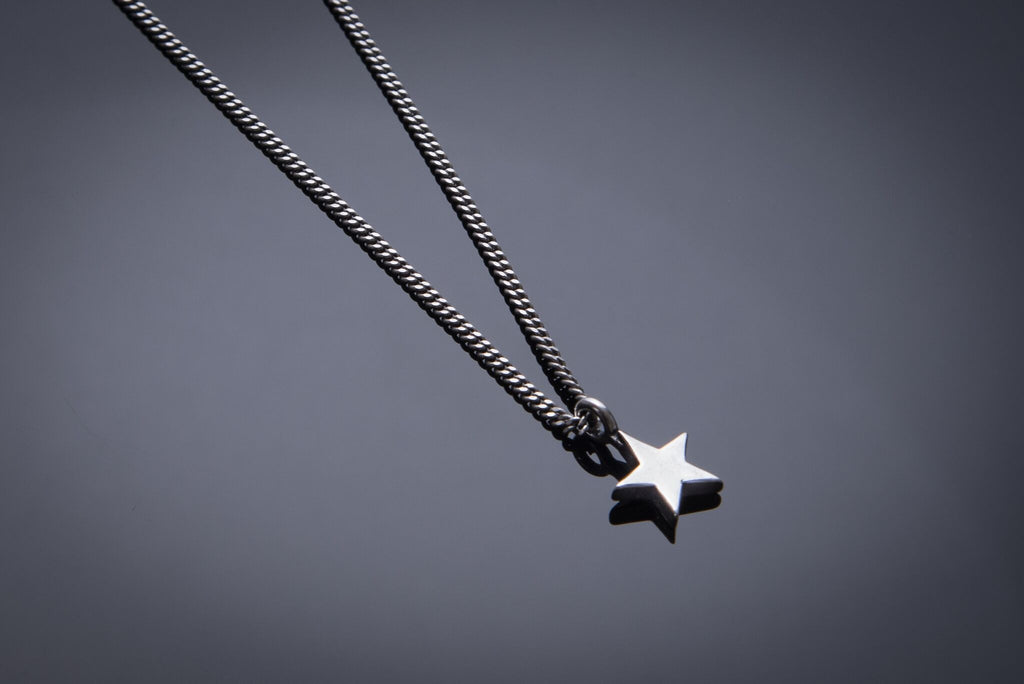 Star of Honor Necklace - Sterling Silver HONOR EMBLEM Choker