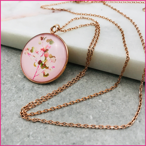 Collier long Printemps (rose gold ou argent)