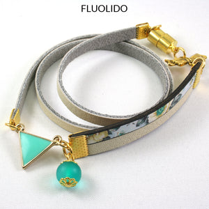 Bracelet Triangle Turquoise d'Alice