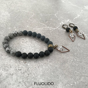 Ensemble Black Agate & Swarovski