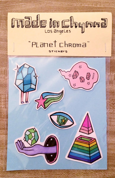 Chynna // Planet Chroma Stickers