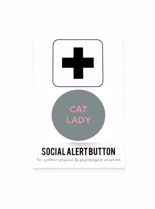 WORD FOR WORD // CAT LADY PIN