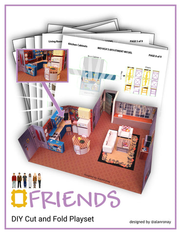 ALAN RONAY // FRIENDS DIY CUT AND FOLD PLAYSET