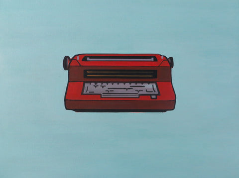 WYATT MCDILL // RUST COLORED 70S IBM TYPEWRITER