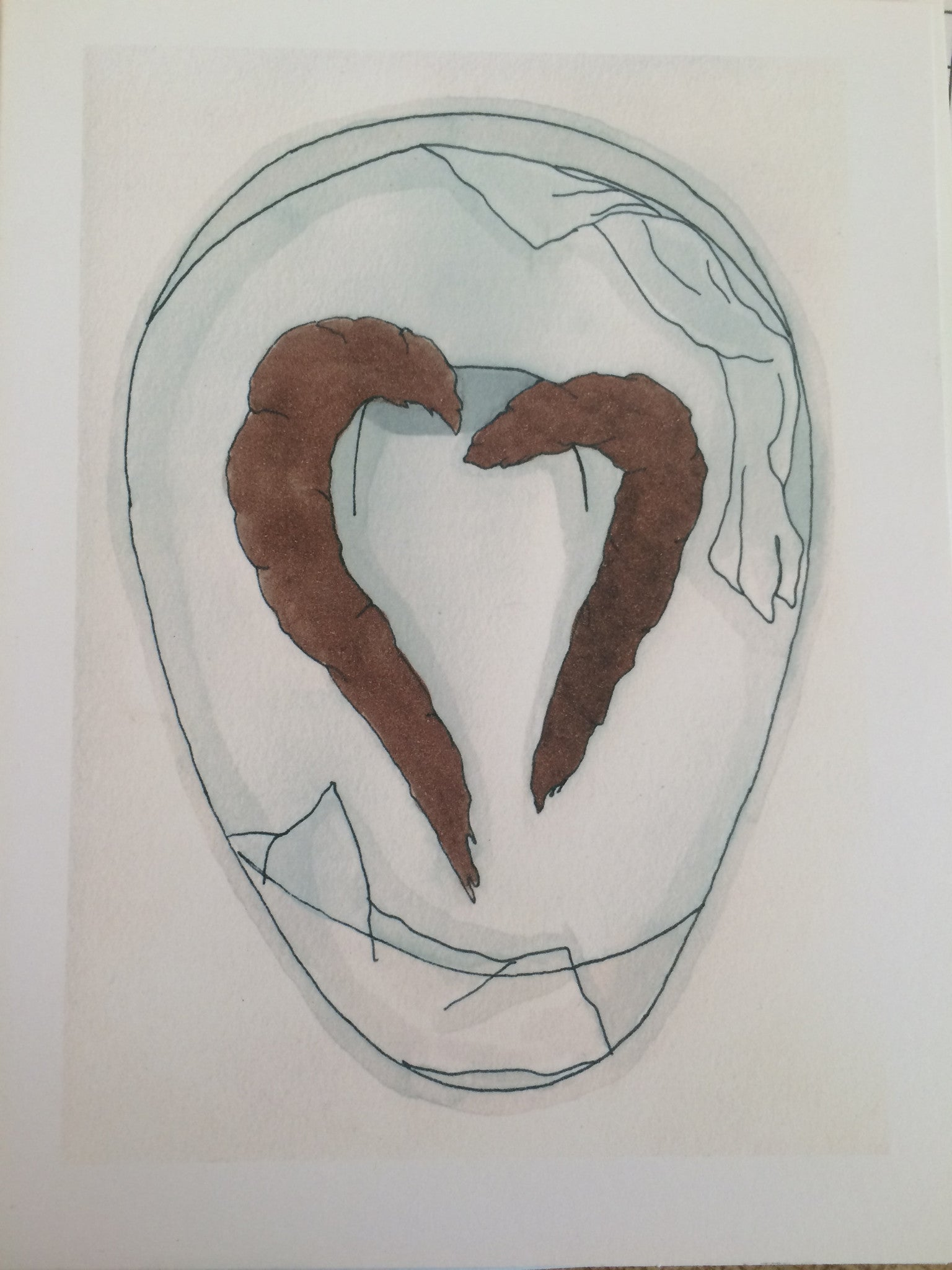 MORGAN KESSLER // POOP HEART CARD