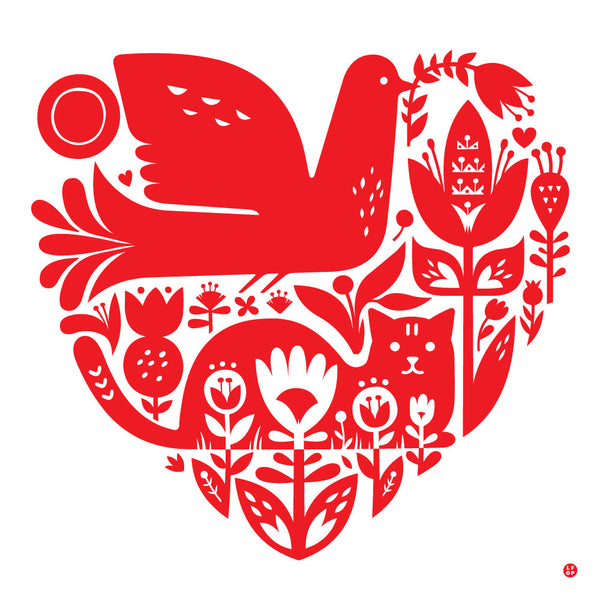 LITTLE FRIENDS OF PRINTMAKING // Valentine