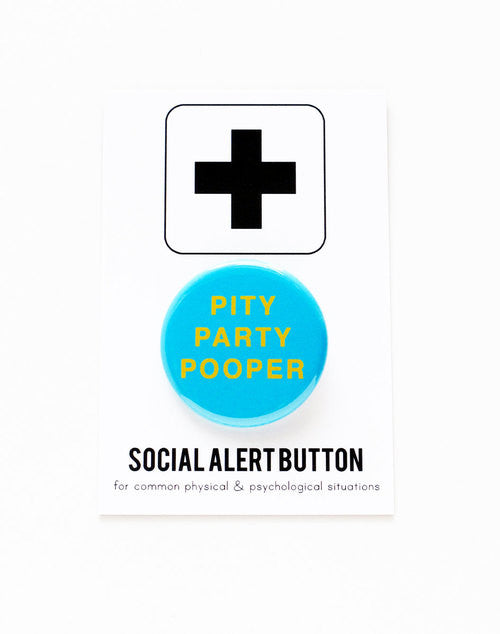 WORD FOR WORD  // PITY PARTY POOPER PIN