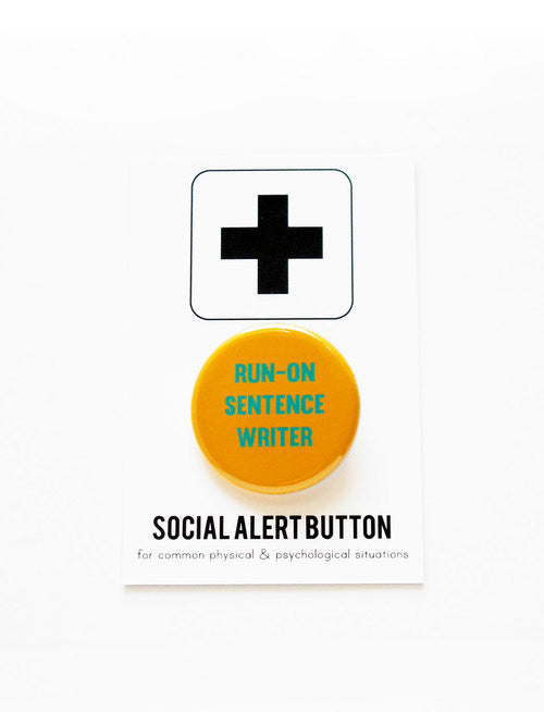 WORD FOR WORD // RUN-ON SENTENCE WRITER PIN
