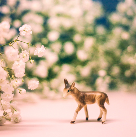TINY DEER // BABY'S BREATH DOE