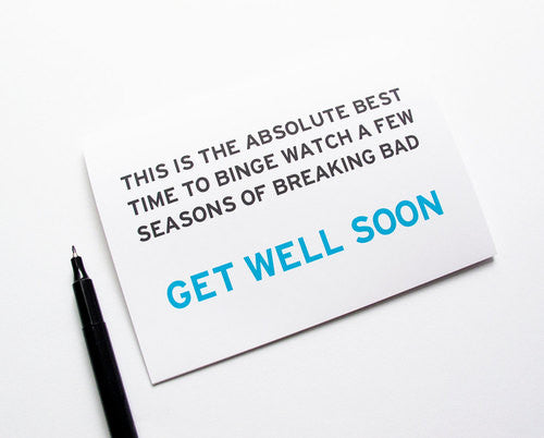 WORD FOR WORD  // BREAKING BAD GET WELL CARD