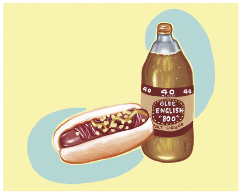 JULIETTE TOMA //  HOT DOG PRINT