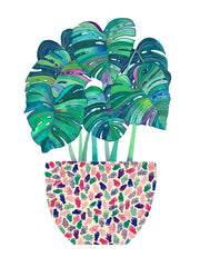 MELINDA BOYCE // MONSTERA  POT PRINT