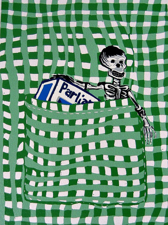 "AMY TOUCEY // POCKET PRINT ""SKELETON"""