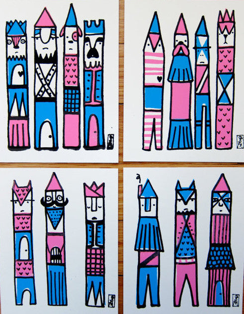 STACY MICHELSON // CASTLES & TOTEMS PRINT PACK