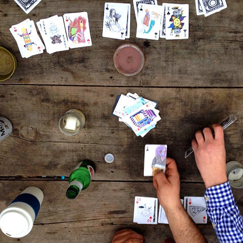 PARTY FOOD // ROYAL FLUSH PLAYING CARDS