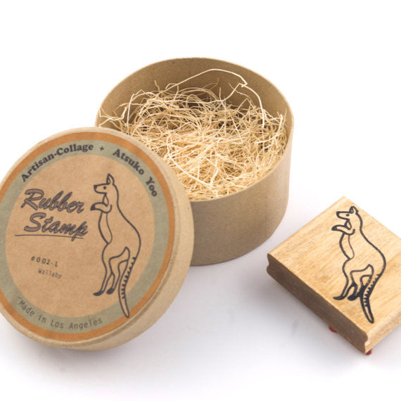 GUCHA // WALLABY RUBBER STAMP LRG