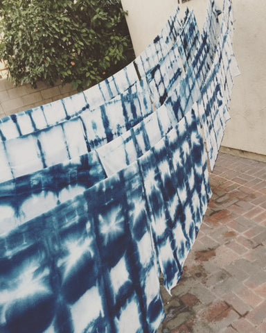 I'D RATHER DYE: SHIBORI INDIGO DYING WORKSHOP + HANG
