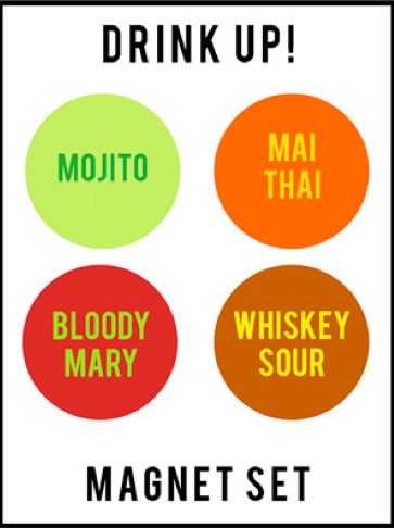 WORD FOR WORD // MIXED COCKTAIL MAGNETS