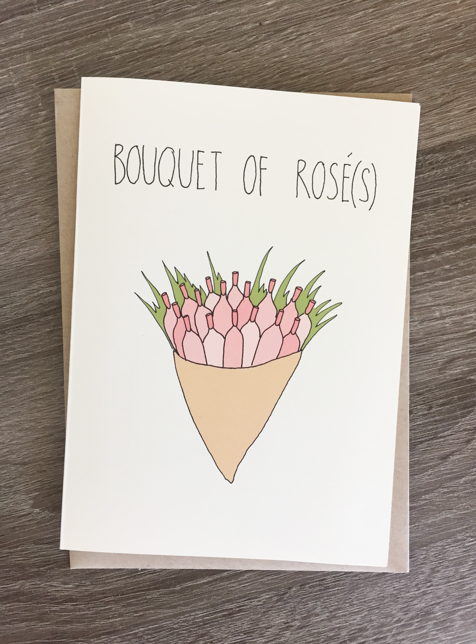 FineAssLines // BOUQUET OF ROSÉ CARD