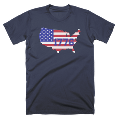 1776 Patriot Country Flag Custom T-Shirt