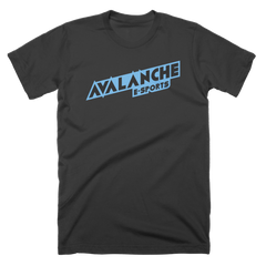 Avalanche Blue Text Logo T-Shirt