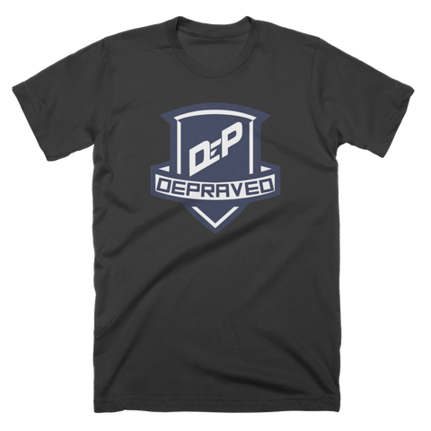 Depraved Logo Custom Black T-Shirt