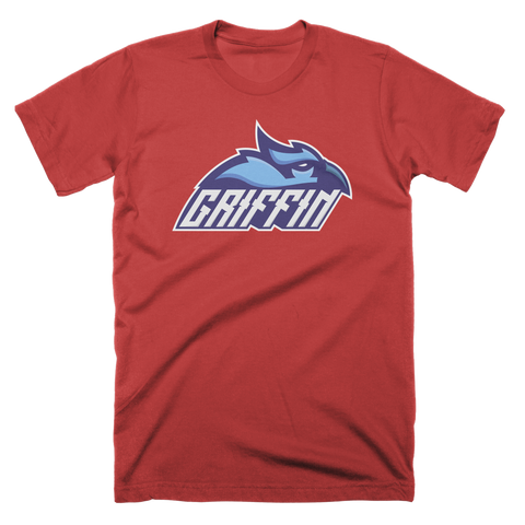 Griffin Logo Red Custom T-Shirt