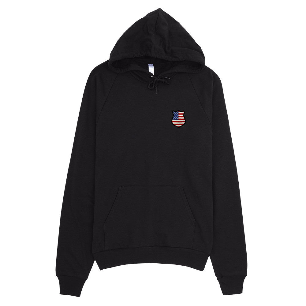Police Shield Pullover Hoodie