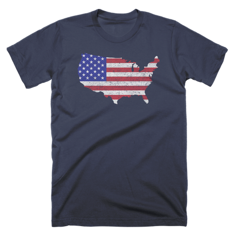United States Country Flag Custom T-Shirt