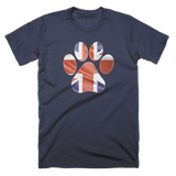 K9 Paw with Wavy British Flag