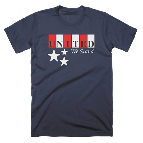 United We Stand Patriotic Block Custom T-Shirt