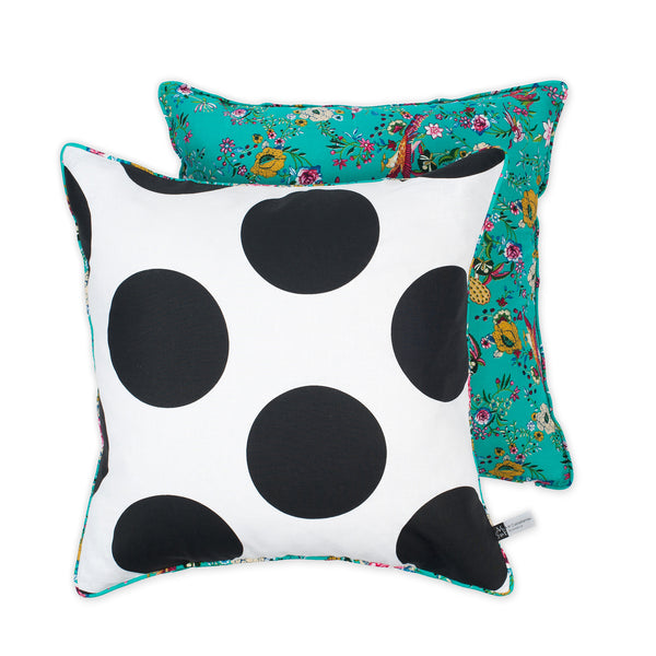 Florals & Jumbo Dots Cushion