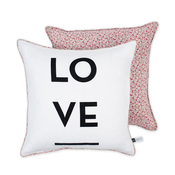 Florals & Love Cushion