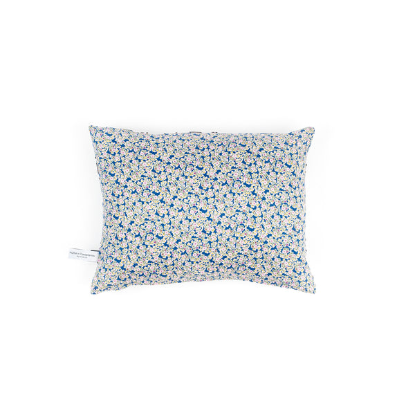 Florals & Eyes Cushion - Blue