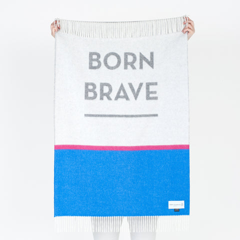 Born Brave - Baby Throw