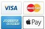 Visa, Mastercard, Amex, Applepay accepted