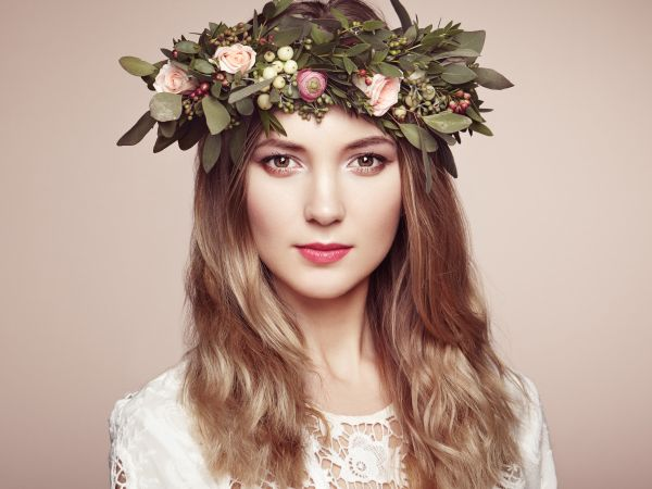 Green Flower Crown Hairstyle | ISA Professional