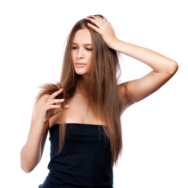 Woman Worrying About Dull, Damaged Hair- ISA Professional
